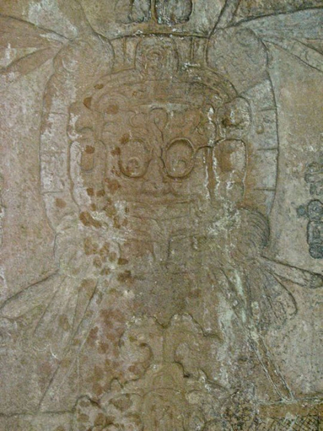 Chac, god of rain, at the Temple of the Cross.