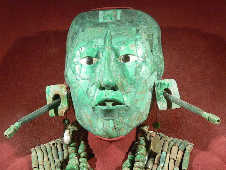 Pakal's funerary jade mask.