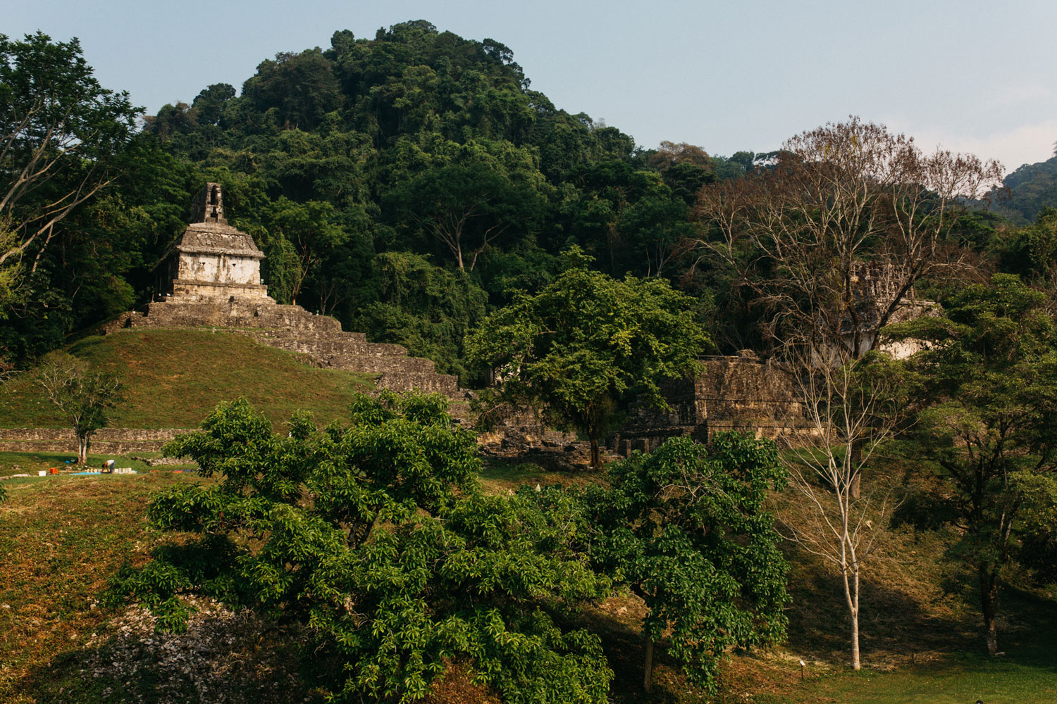 The Temple of the Foliated Cross. Left: The Temple of the Sun.