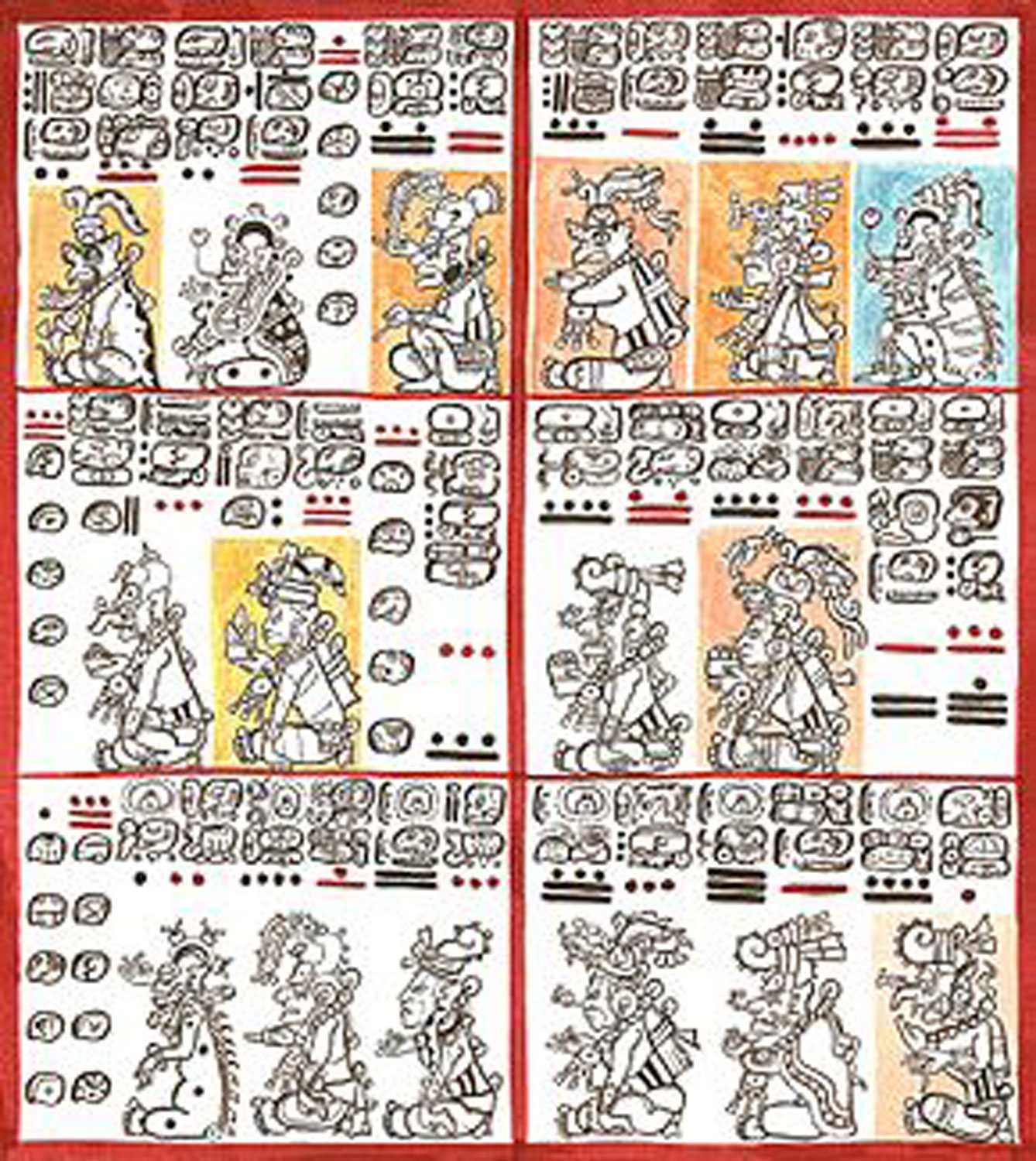 Dresden Codex, pages 10 and 11. Source:  wikipedia.org