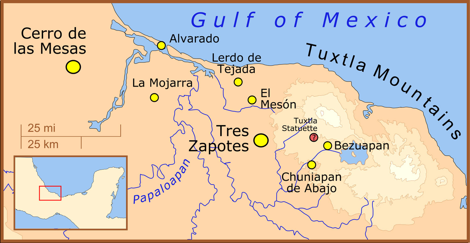 Epi-Olmec cultural area. Source:  commons.wikimedia.org