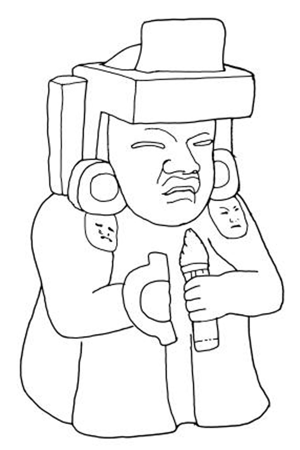 Olmec with a 'knuckle duster'. Drawing by Linda Schele,. Source:  research.famsi.org .