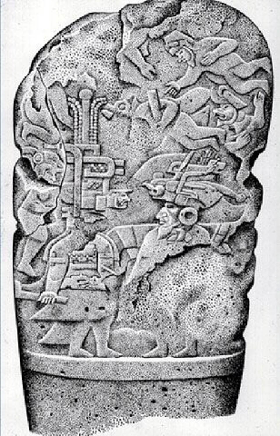 Stela 3, the Bearded Man. Source:  pinterest.com.mx .
