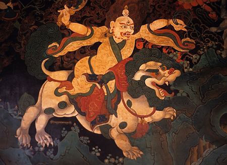 Snow lion shamanism, E Krueger:  www.pinterest.com.mx .
