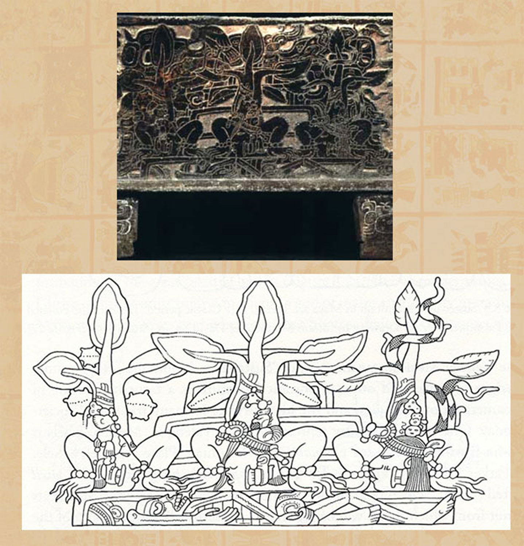 Funerary scene, a vessel, drawing by Simon Martin:  mexicolore.co.uk .