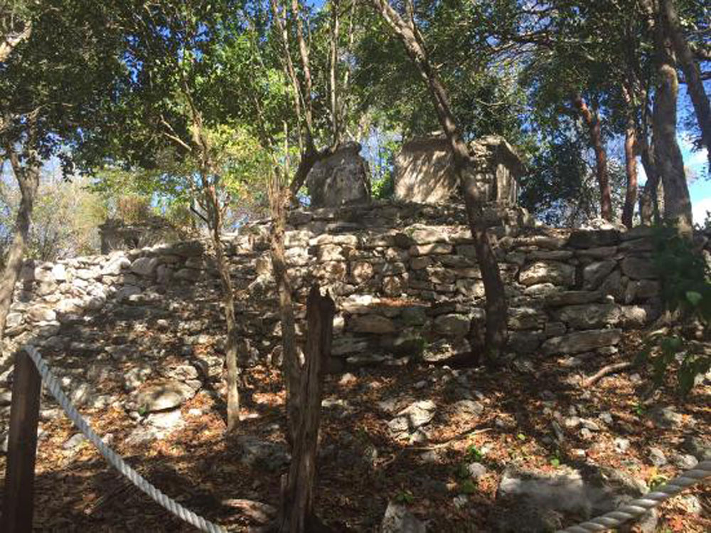 Mayan ruins at Sandos Coral. Open only to hotel guests.