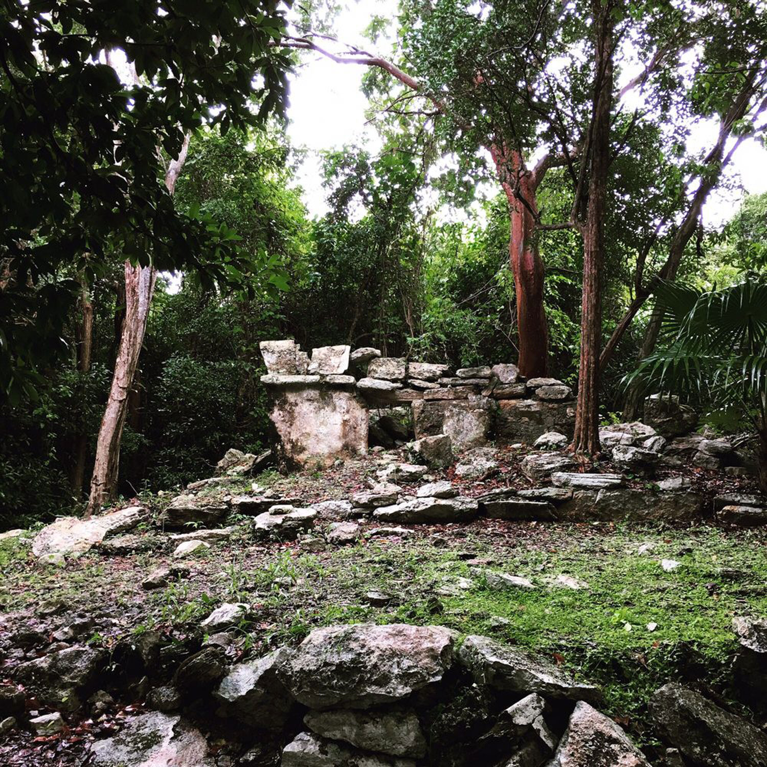 Mayan ancient ruin The Altar, 1400 AD.