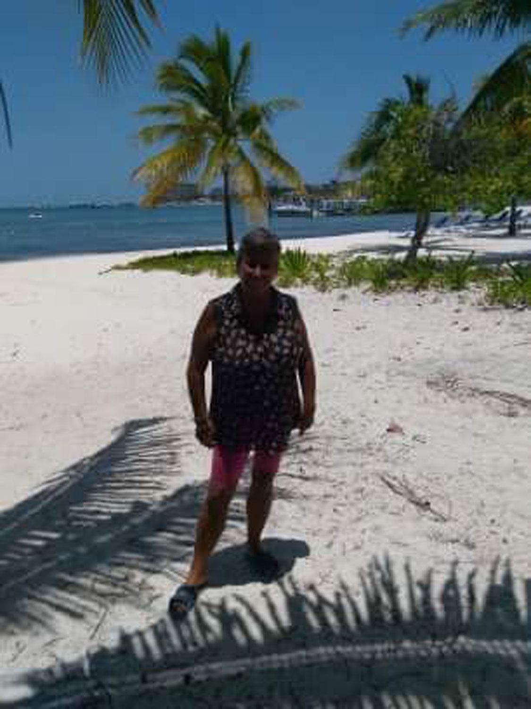 My friend Ximena enjoyed the stroll along the next bay.