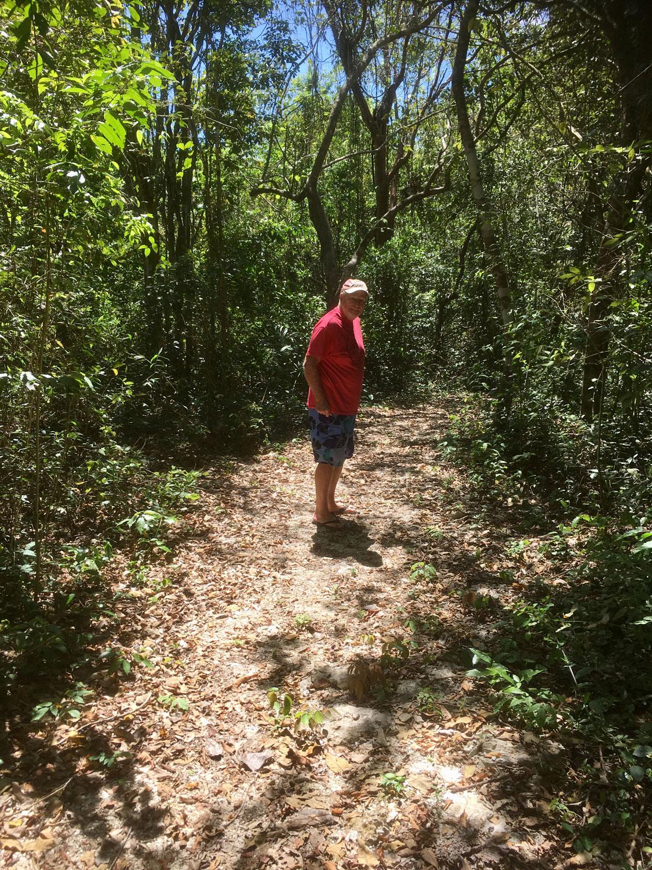 My friend Jim on the jungle path.