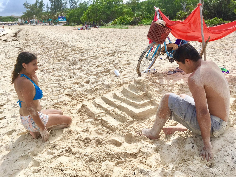 The locals build pyramids, not sandcastles!