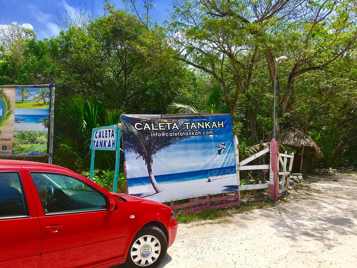 The public car park is a one-minute walk from the beach.