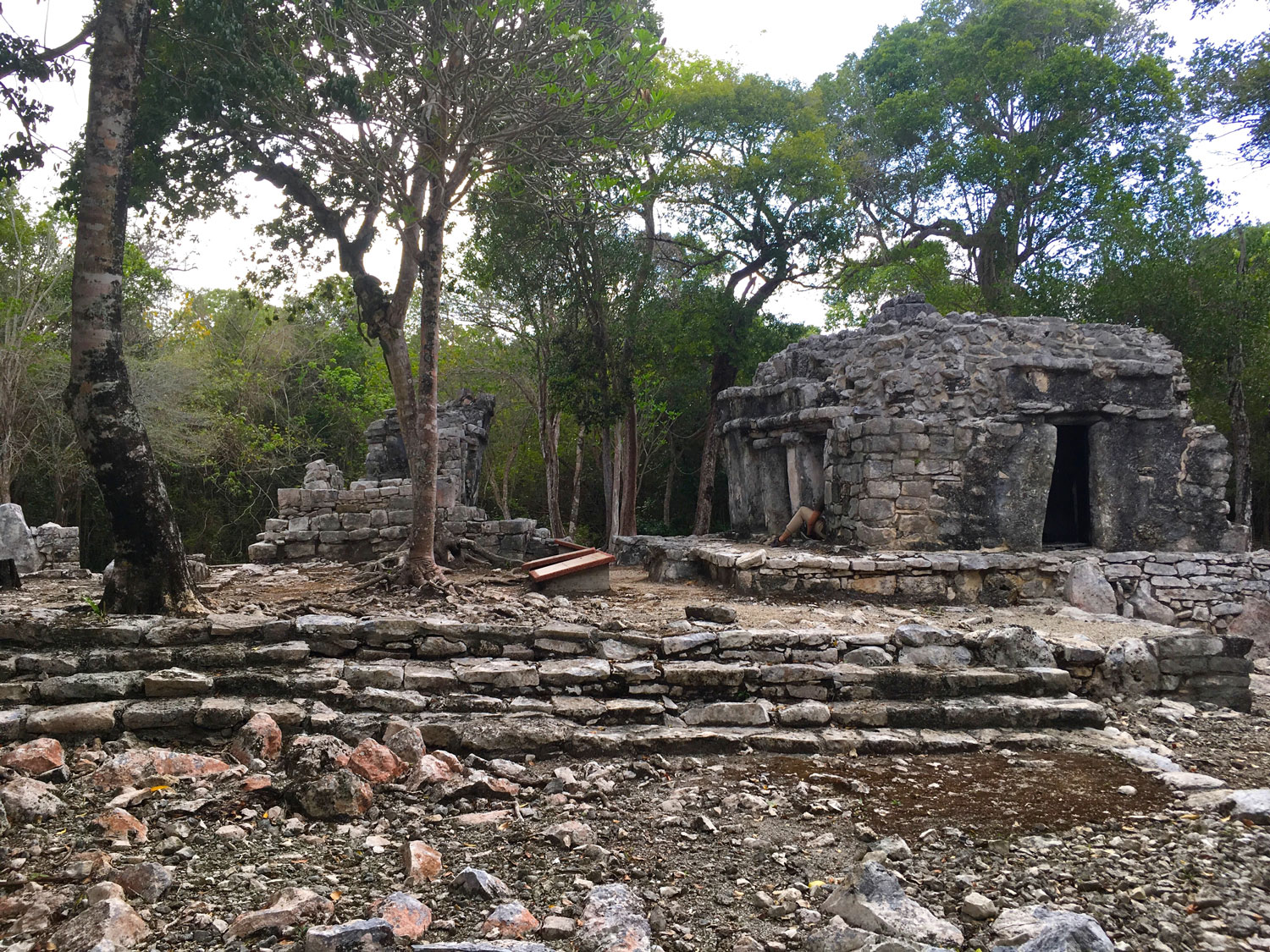 Temazcal and cenote Dos Palmas in a Maya village.