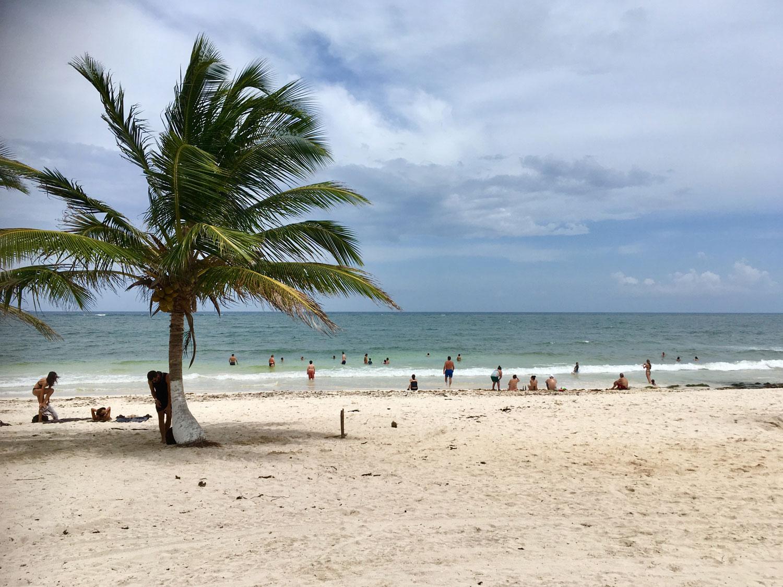 The beach of Caleta Tankah.