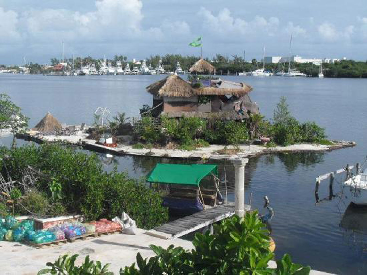 The eco house on the plastic island.