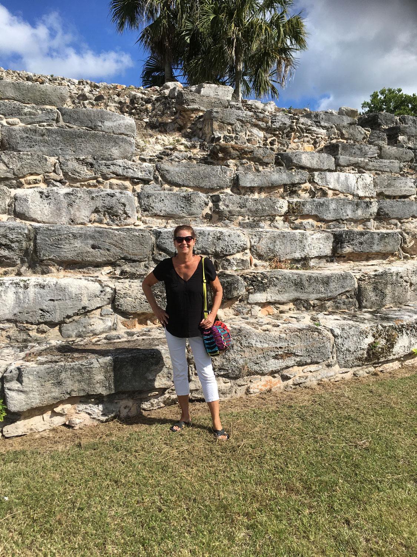 At the K'inich K'ak Moo ruins.