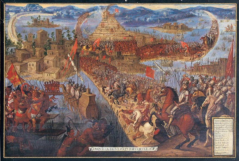 The conquest of Tenotchitlán:  en.wikipedia.org.