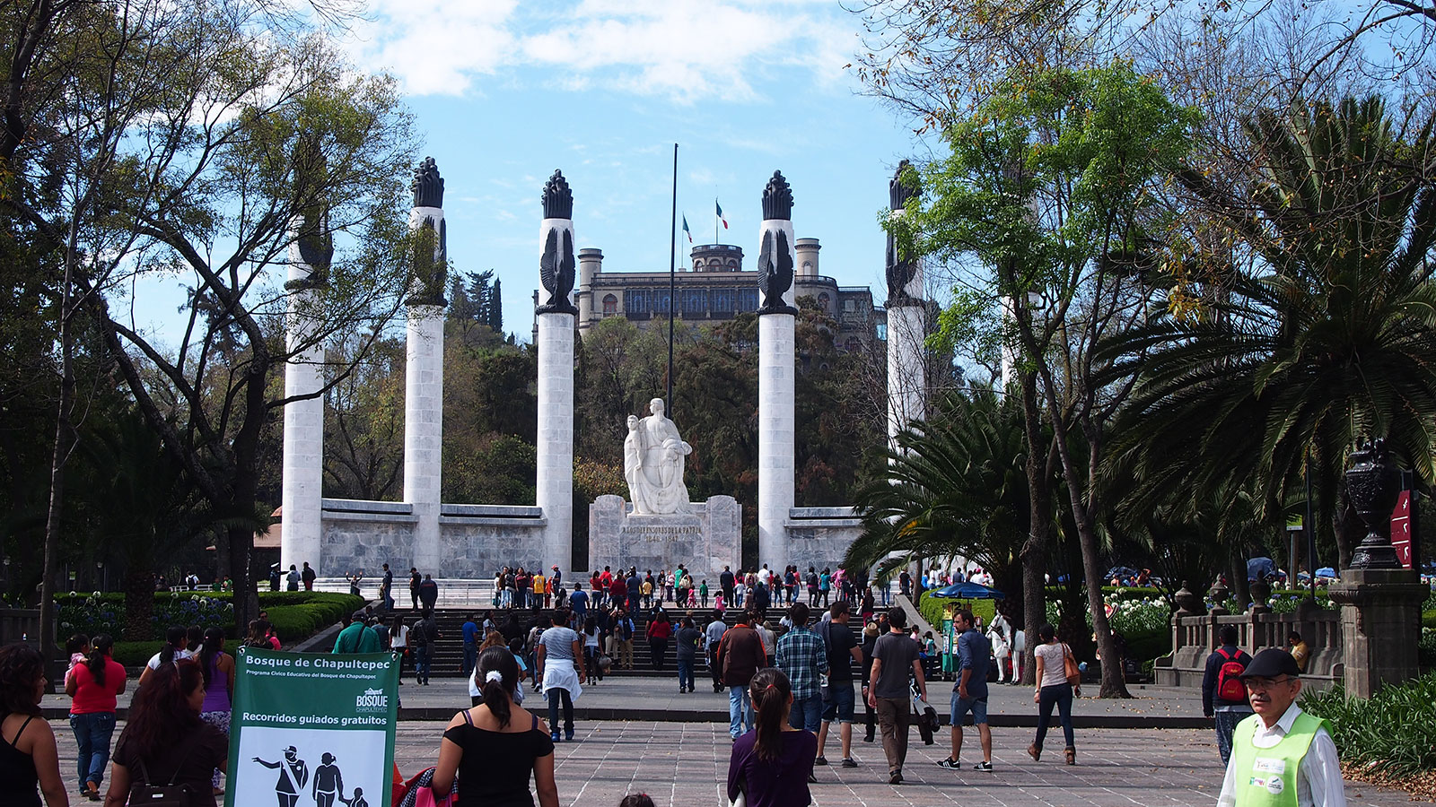 Chapultepec Park, with the castle in the background.