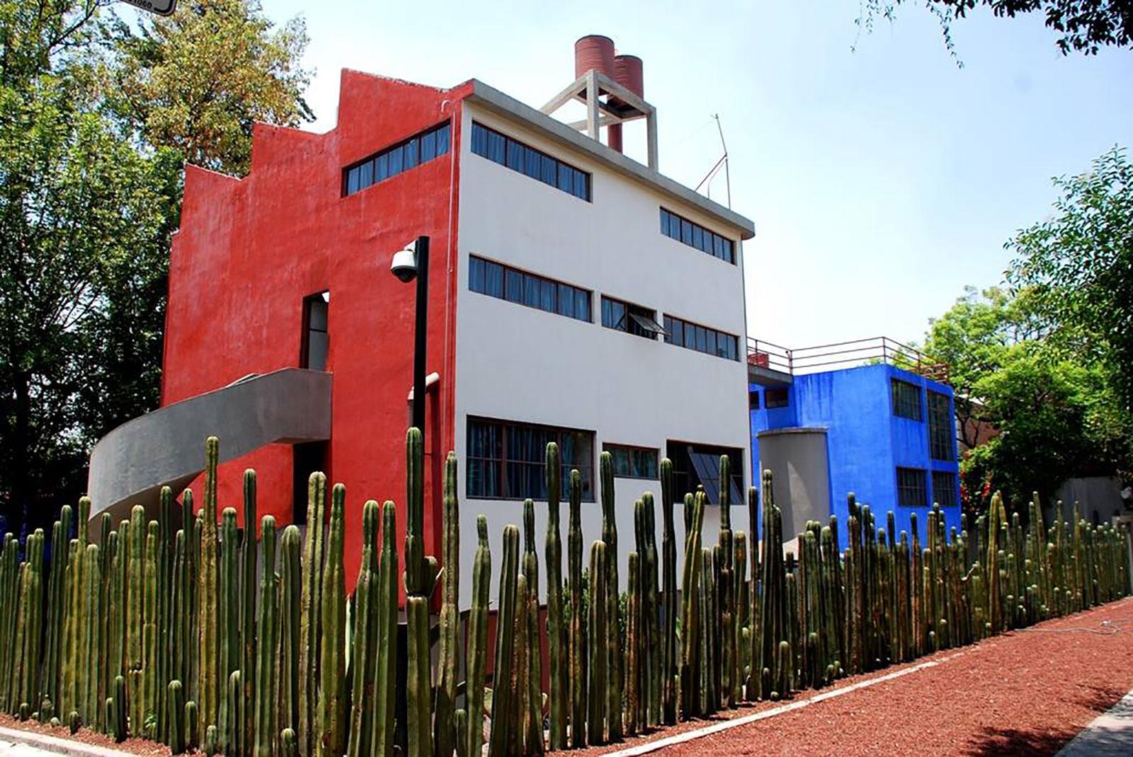 Studio houses of Diego Rivera and Frida Kahlo.