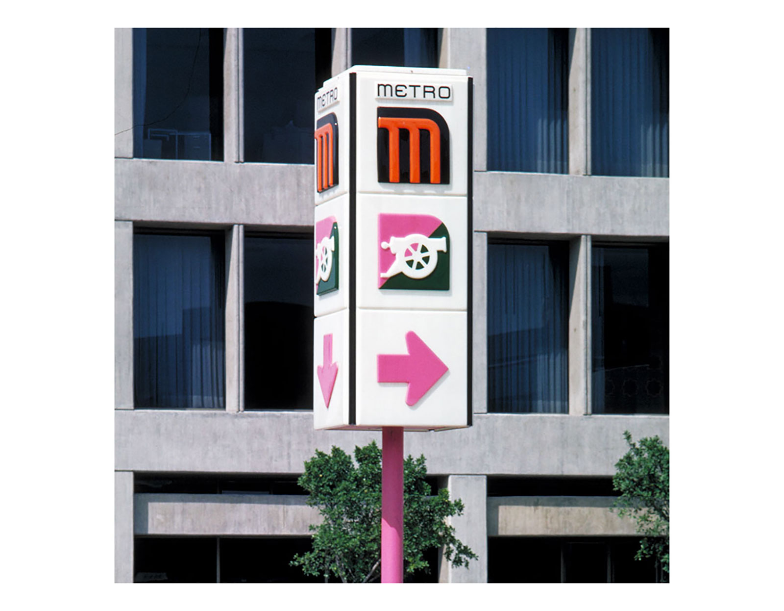Metro sign. Don't be afraid to use it, it is safe.