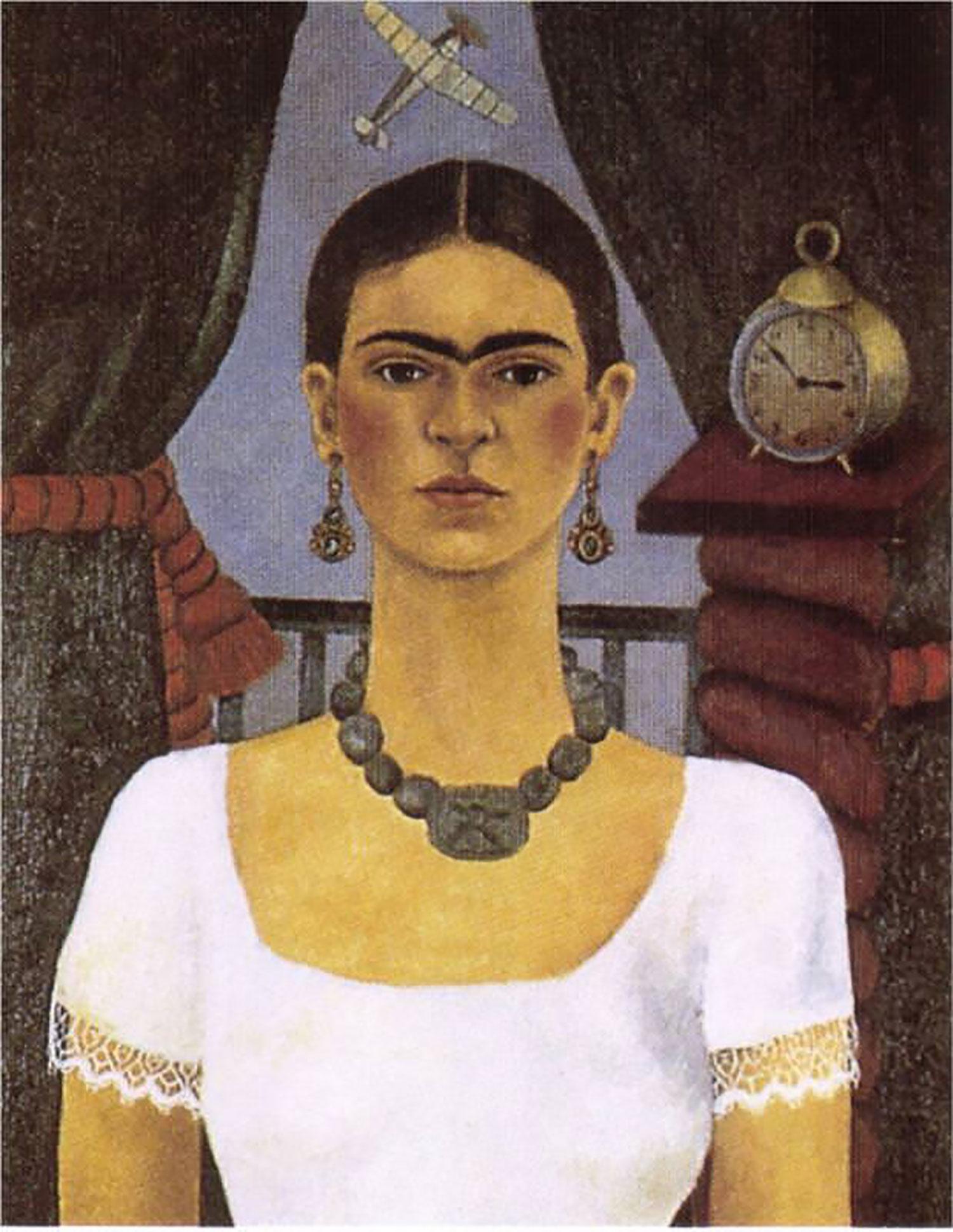 Self Portrait: Time Flies, 1929:  fridakahlo.org .