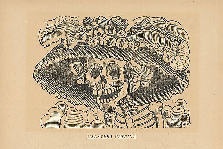 José Guadalupe Posada, La Calavera Catrina:  en.wikipedia.org .