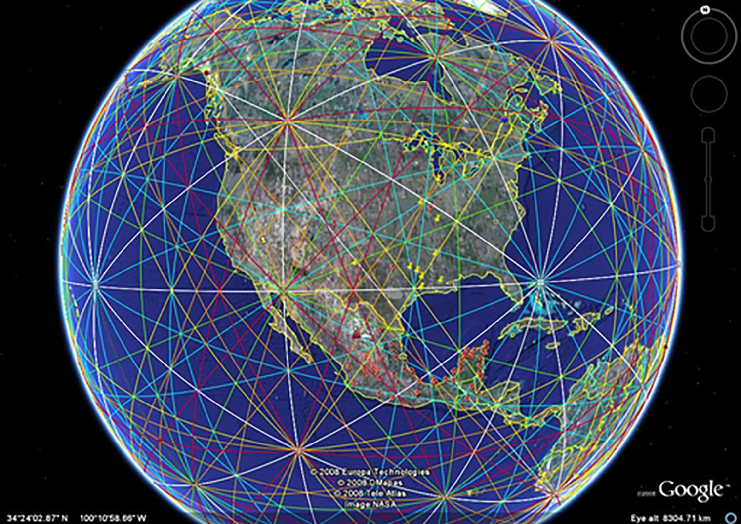 World ley lines (energy lines). From Amino Apps.