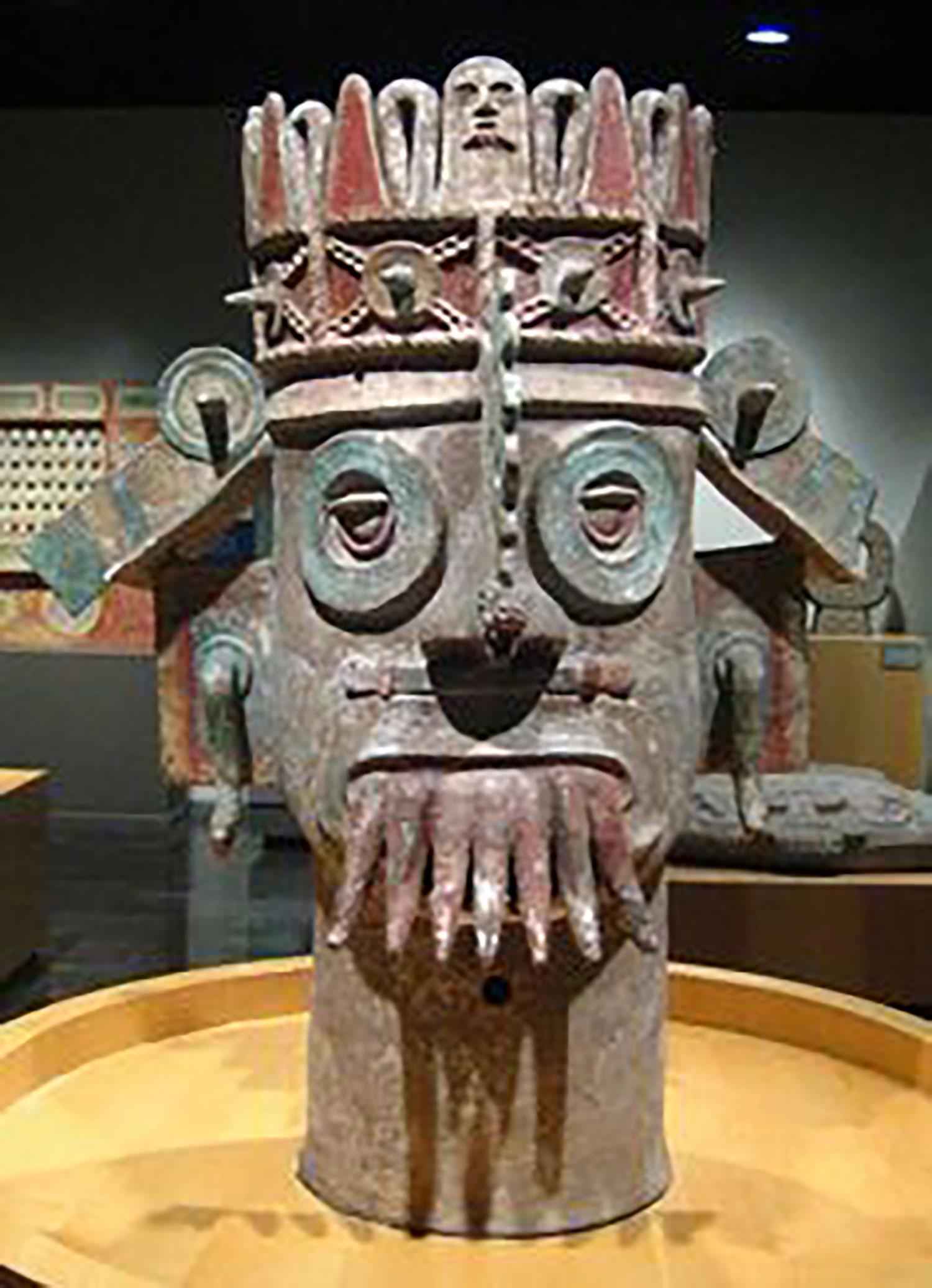 Aztec god of rain, Tláloc, National Museum of Anthropology.