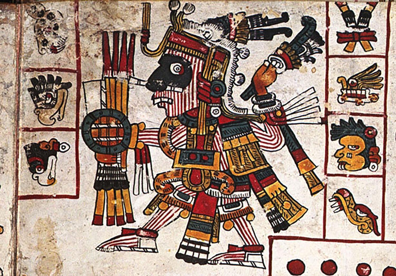 God Camaxtli, from Codex Borgia, Tlaxcala:  mesolore.org .