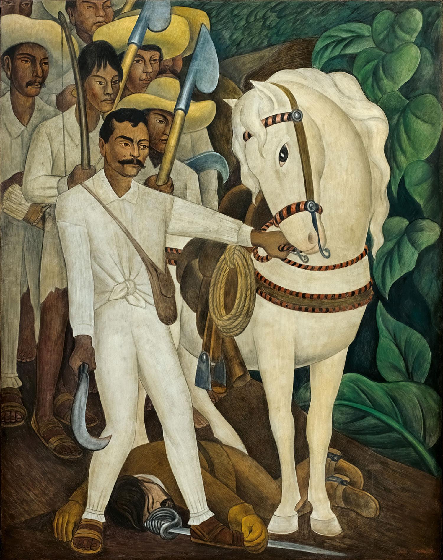 Emiliano Zapata by Diego Rivera:  moma.org .