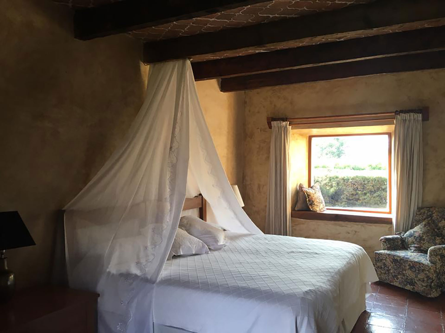 One of the hacienda's bedrooms.