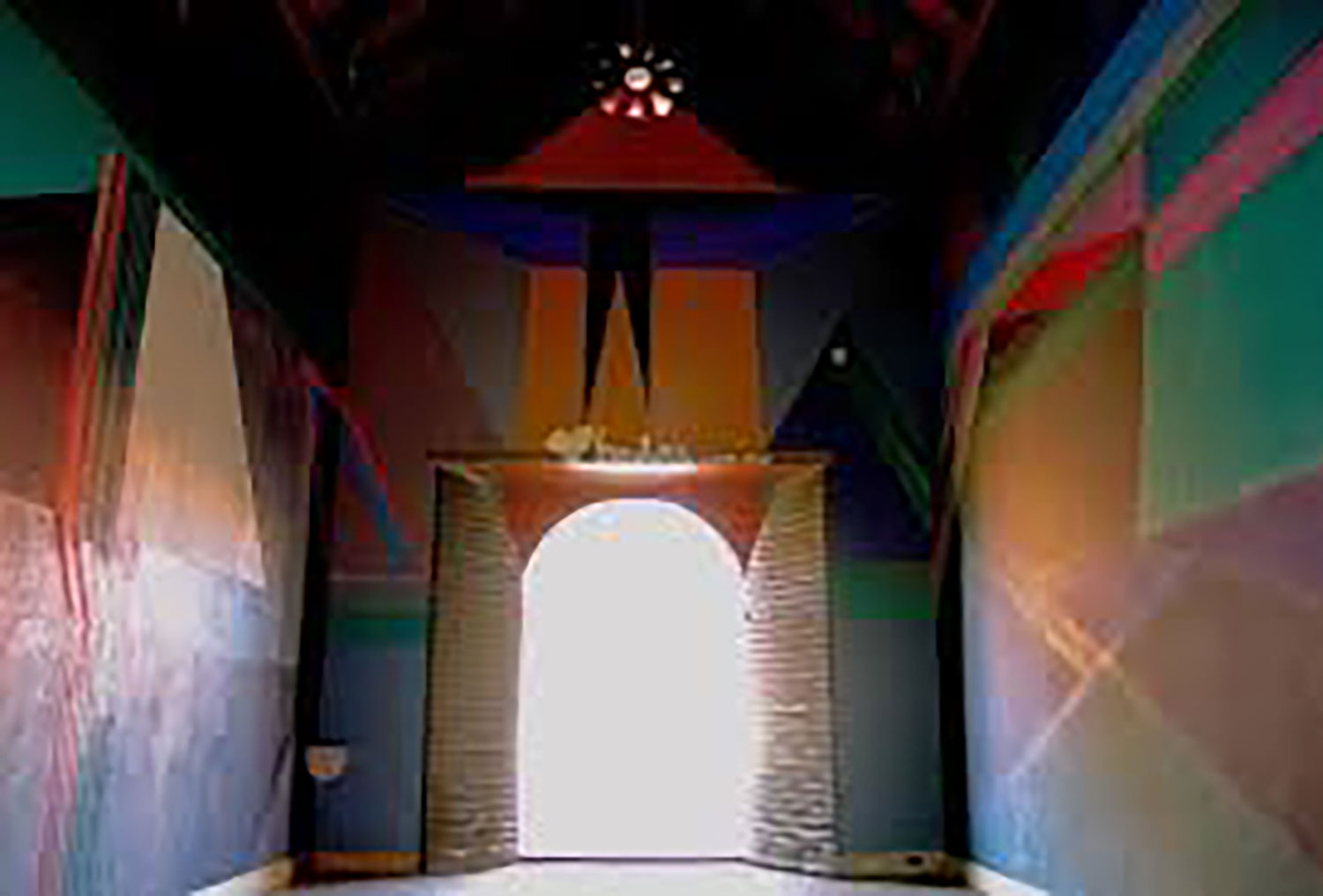 Murals by Federico Silva, inside the Chapel.