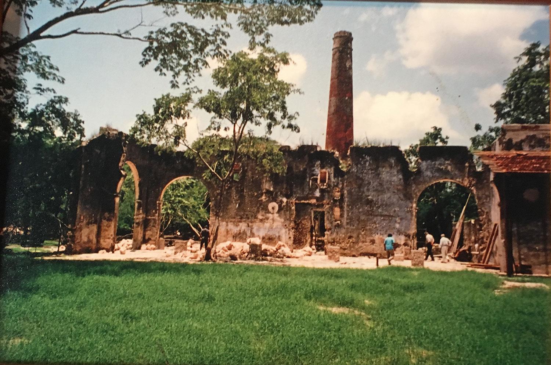 Photos from the hacienda wall display.