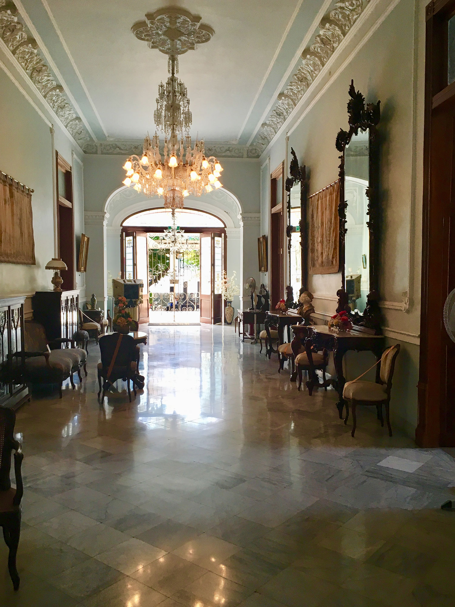 The entry hall.