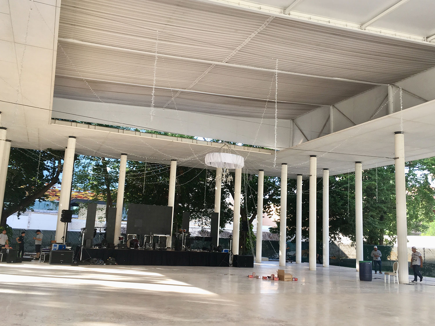 The event space for concerts and conferences in the back garden.