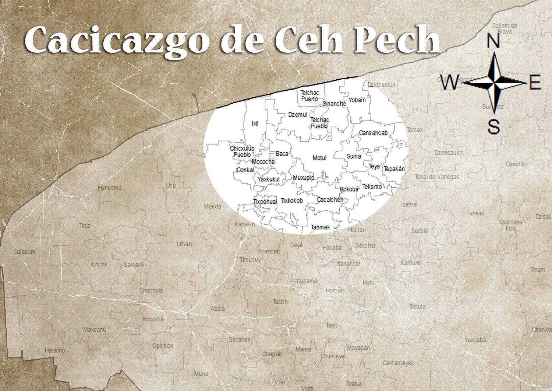 The chiefdom of the Ceh Pech dynasty. Source:  lavozdemotul.com .