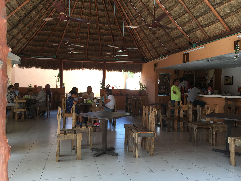 The cenote restaurant.