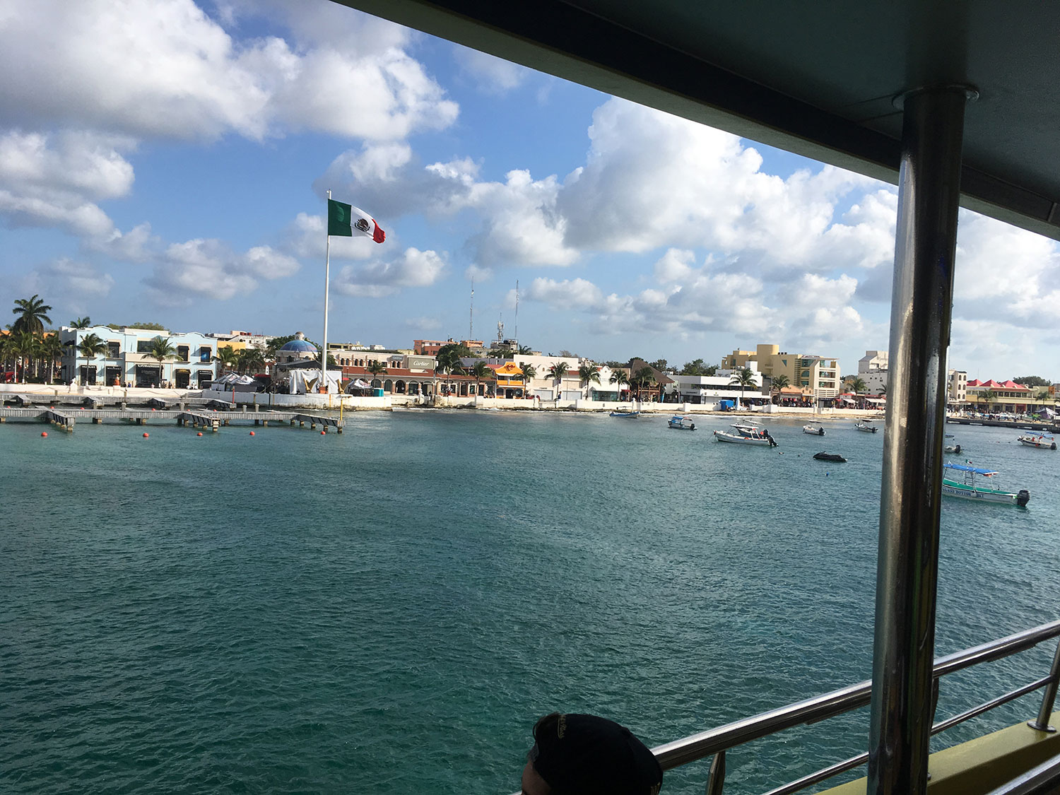 Cozumel as seen on arrival by ferry.