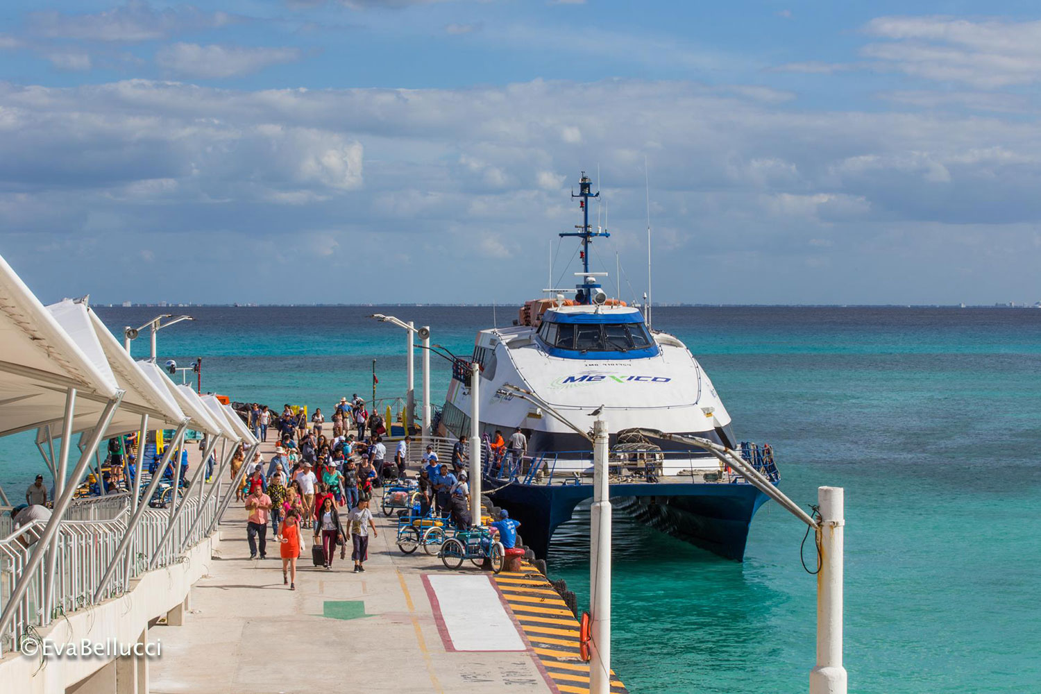 The ferry pier at Playa del Carmen.