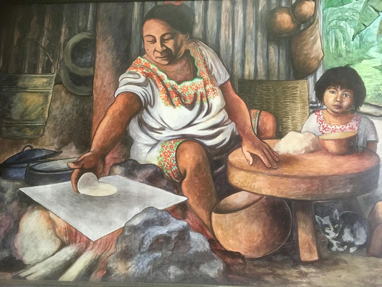A contemporary domestic scene by artist M Jimenez (1985).