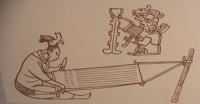 Weaving was a female task.