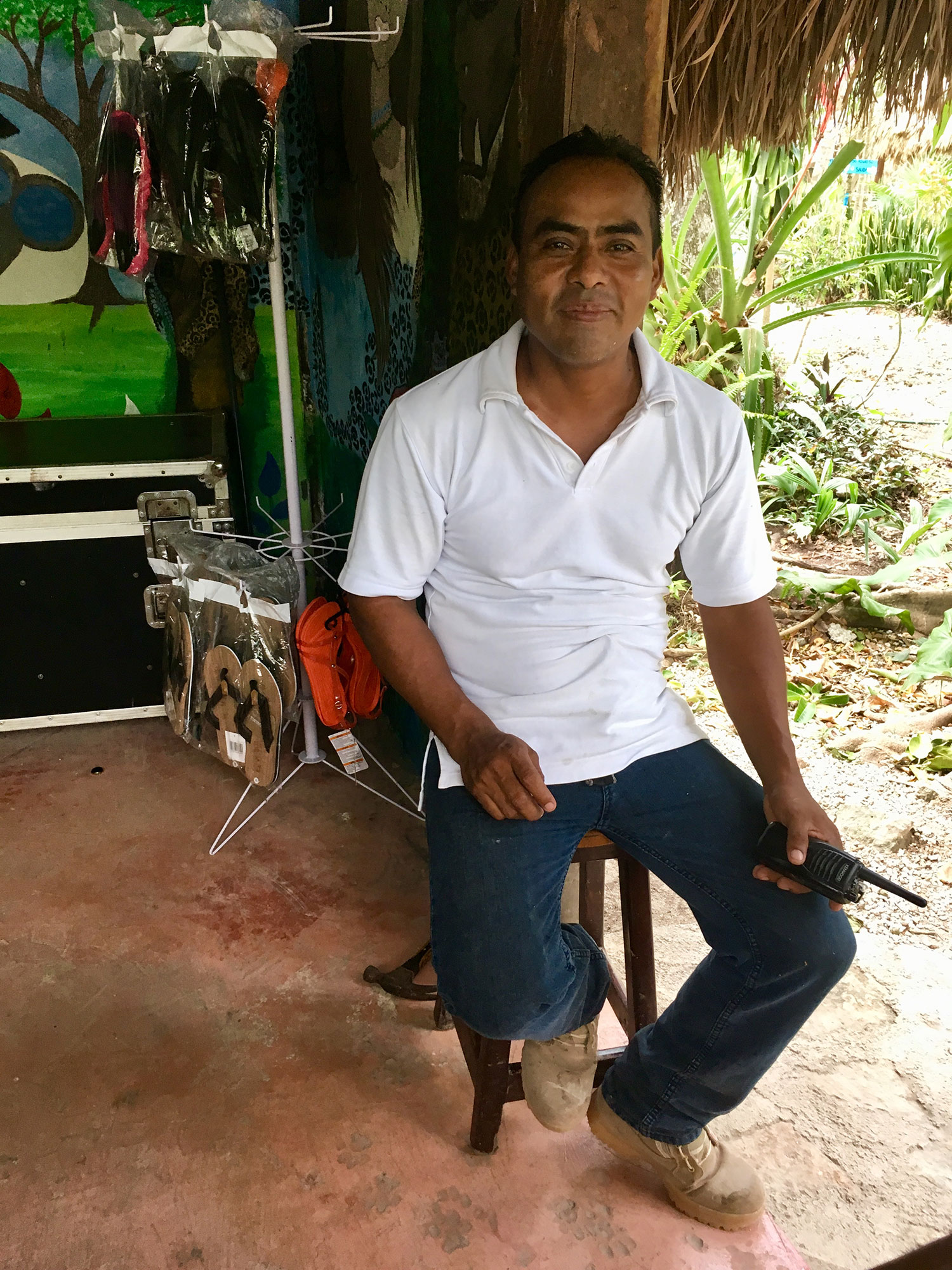 Alfonso works at reception and lives in this village with his family.