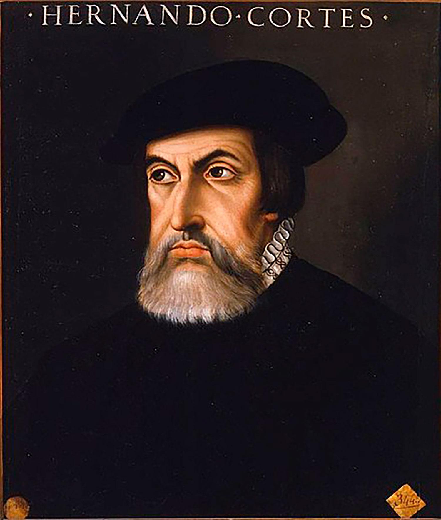 Hernán Cortéz. Source:  wikipedia.org .