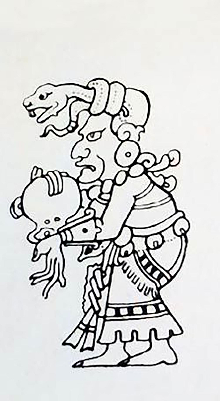 Goddess Ix Chel as an old woman. Source:  pinterest.com.mx .