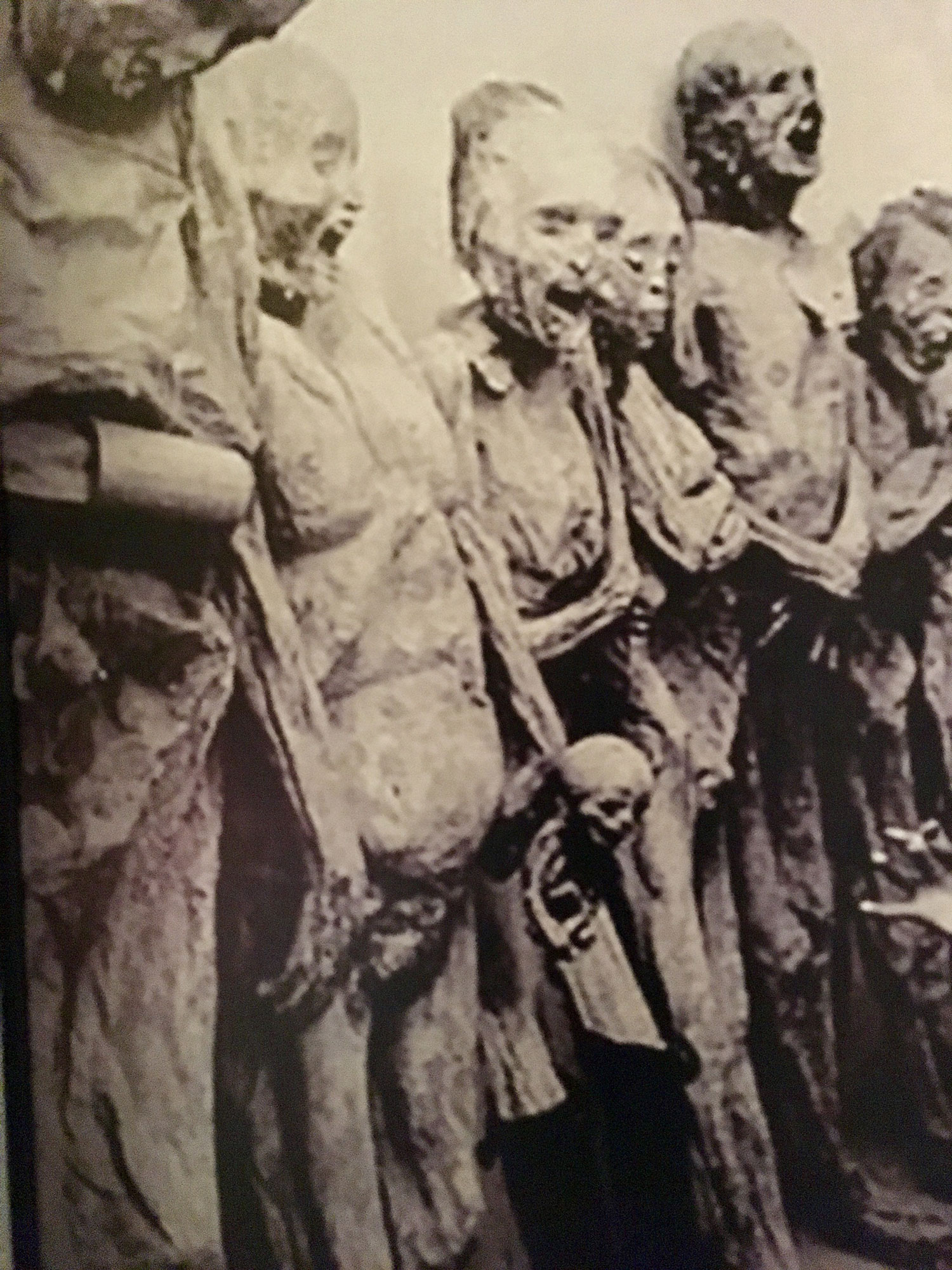 Guanajuato mummies, a photo from the Museum.