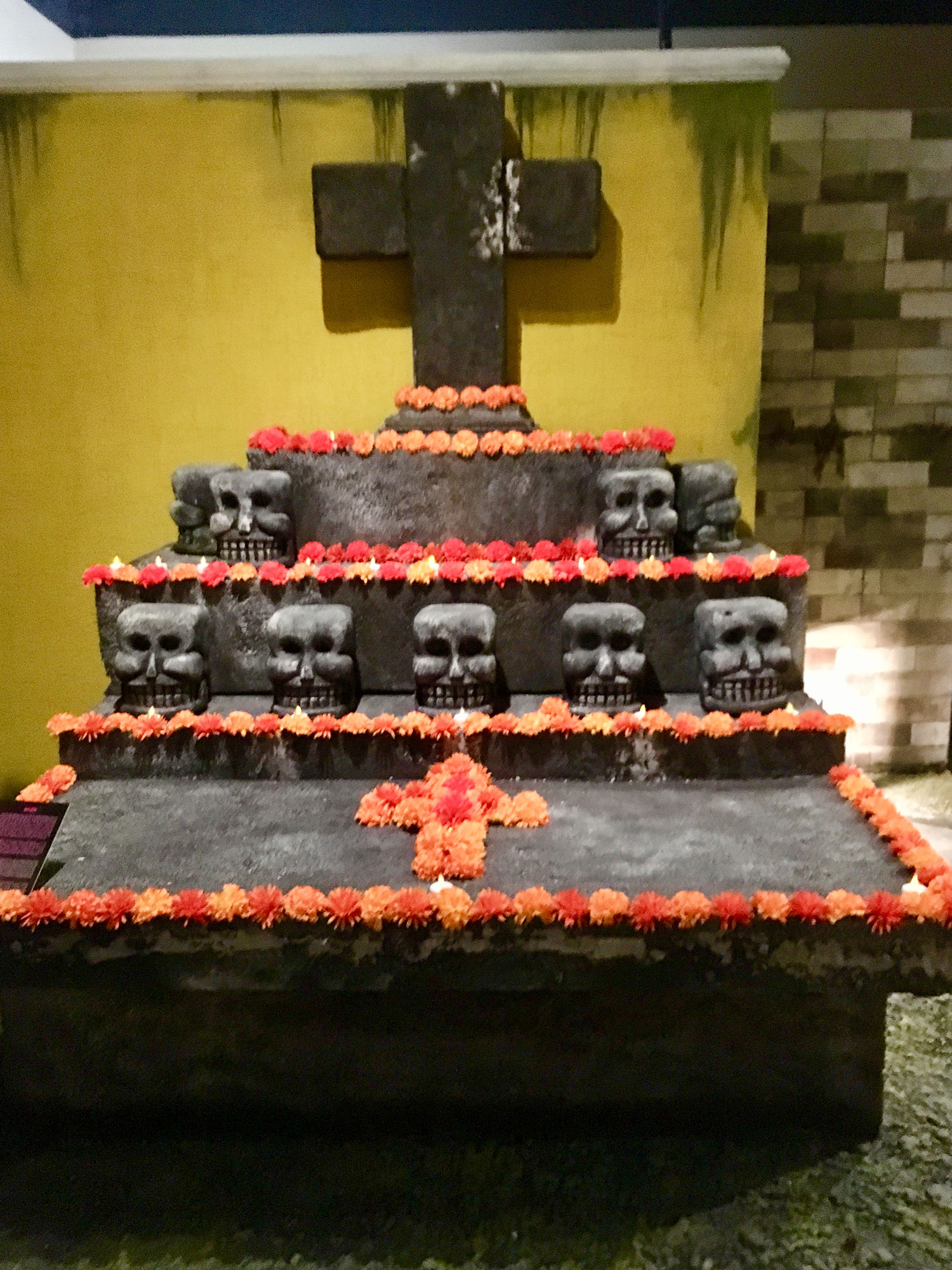A burial made of lava stone in Mexico.