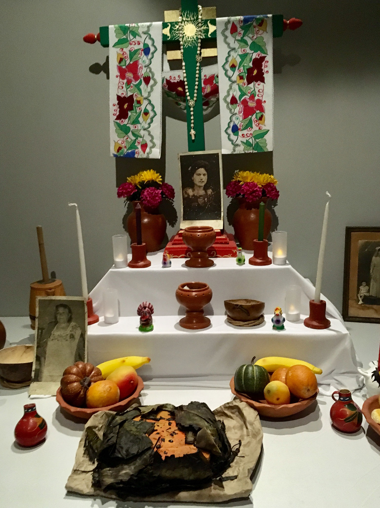 An altar for the Day of the Dead at the Museum.