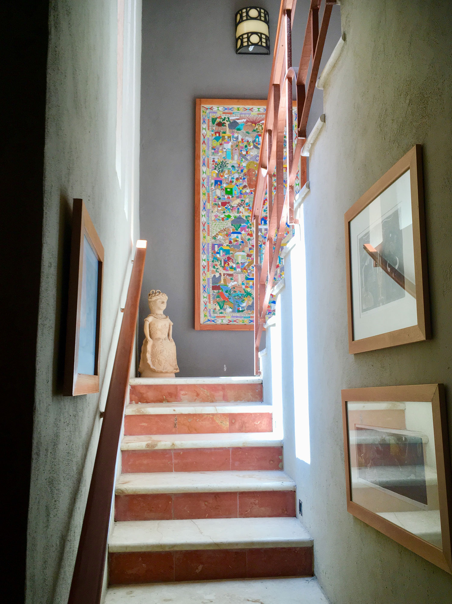 Staircase in the residential suite.