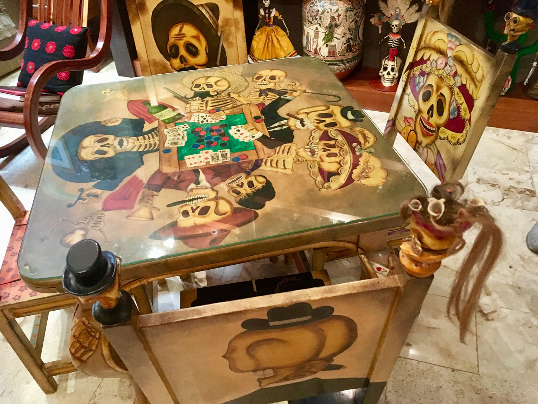 The Catrina card table.