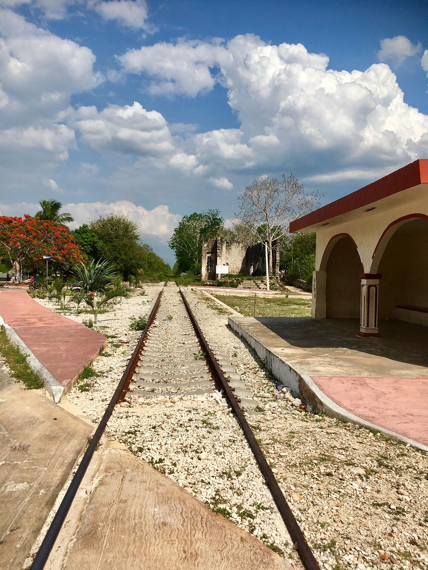 Former railway station.