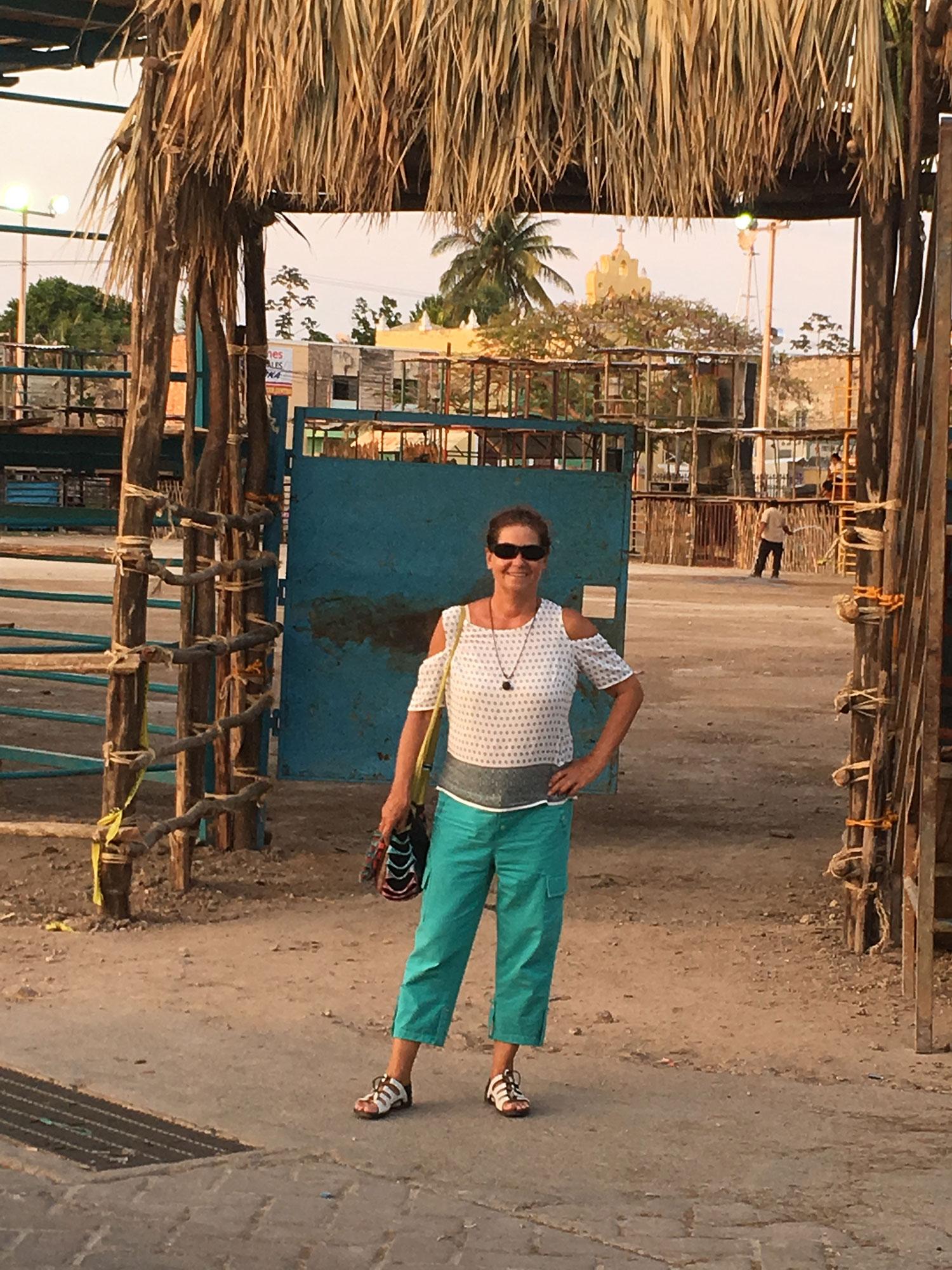 Corrida de toros in the village of Acanceh, a temporary 'bull stadium'.